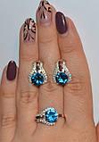 Серебряное кольцо с накладками золота, фото 8