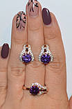 Серебряное кольцо с накладками золота, фото 9