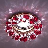 Точечный встраиваемый светильник  Feron CD4141красный золото