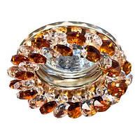 Точечный встраиваемый светильник  Feron CD4141коричневый золото