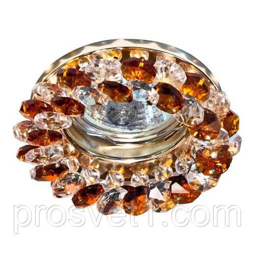 Точечный встраиваемый светильник  Feron CD4141коричневый золото - PROСвет — магазин световой техники в Днепре