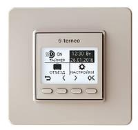 Программируемый термостат для теплого пола Terneo pro (слоновая кость) с датчиком температуры пола