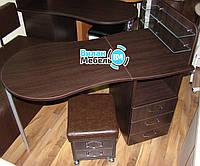 """Комплект, маникюрный стол """"Трансформер""""+пуф для педикюра"""