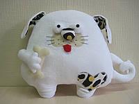 Мягкая игрушка-подушка собака ручная работа