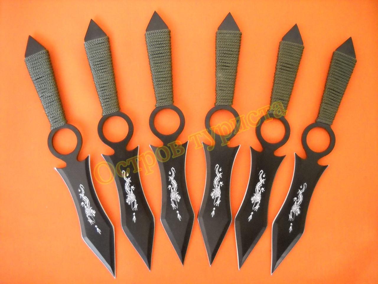 Ножи метательные набор 6 шт 00558 с чехлом