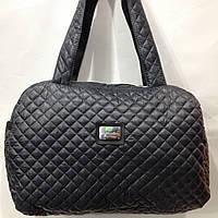 Модная стеганая сумка EXCIUSive Coiection из плащевки  темно-серый   оптом