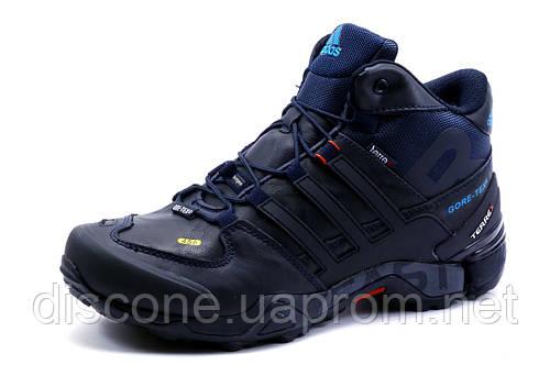 Кроссовки Adidas Terrex зимние, мужские, на меху, темно-синие