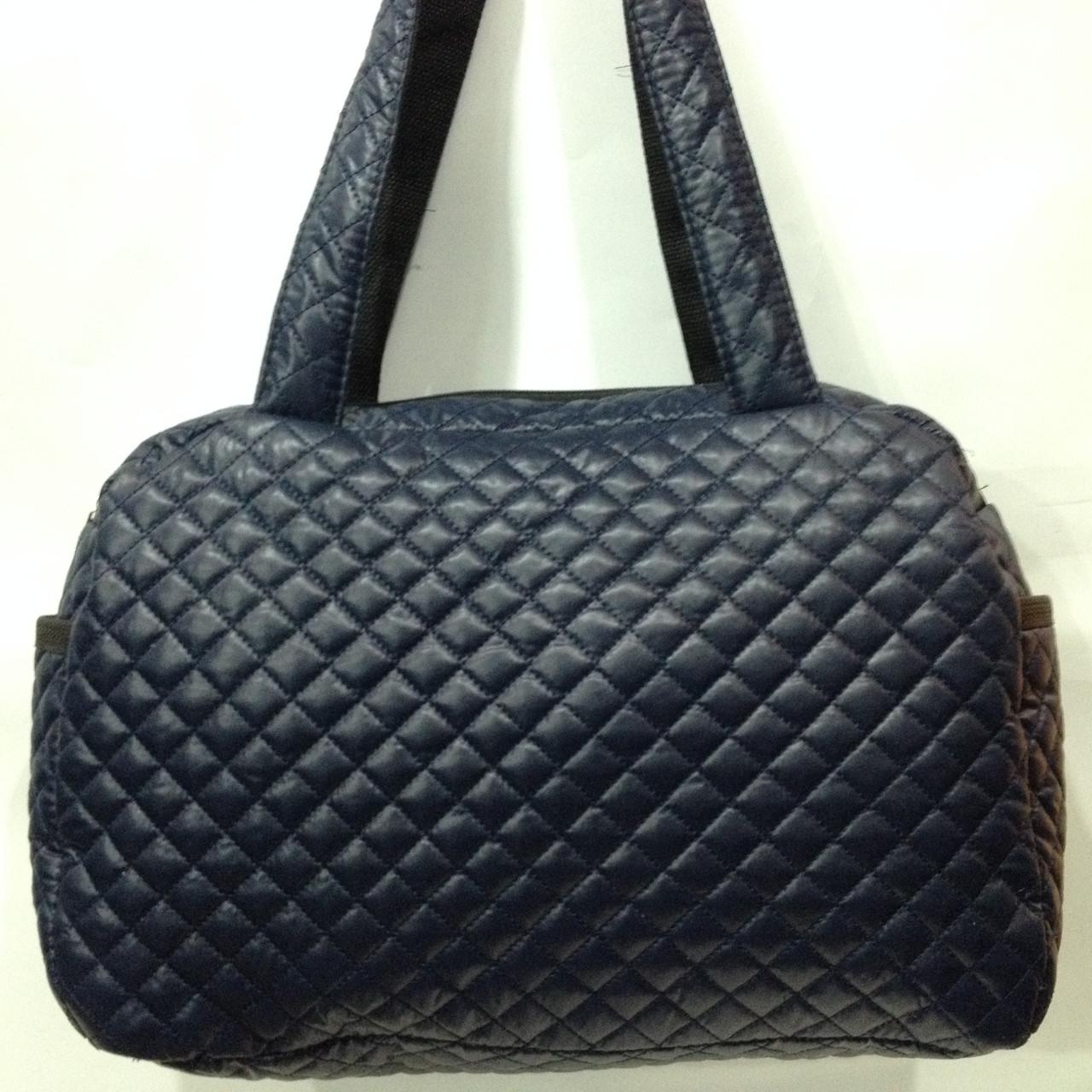 a6d3eba5e7e3 Модная стеганая сумка из плащевки темно-синий оптом: продажа, цена в ...