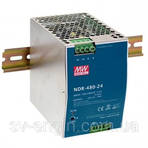 NDR-480-24, NDR-480-48 - однофазные источники питания Mean Well (на DIN-рейку)