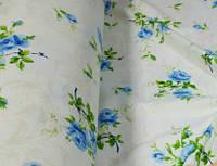 Постельное белье Фланель(байка), Роза голубая - Евро комплект