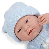 Новорожденный пупс Berenguer в голубом комбинезоне, 38 см, фото 1