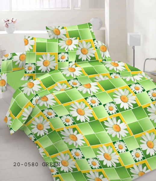 Качественное постельное белье, зеленое бязь, полуторное