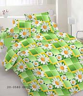 Качественное постельное белье, салатовое, бязь, двуспальное