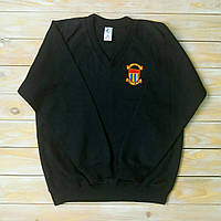 Теплый свитер для мальчика в школу, чёрного цвета