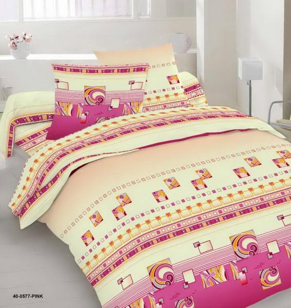 Качественное постельное белье, розовое, бязь, двуспальное