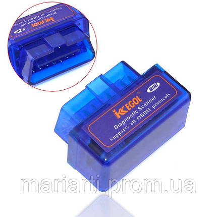 Сканер Bluetooth V2.1, блютуз адаптер OBD2 ELM327 для диагностики авто, Акция, фото 2