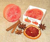 """""""Грейпфрут"""" натуральное подарочное мыло ручной работы"""