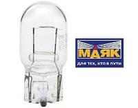"""Лампа 12V W21W цоколь 3x16d (стоп, габарит, поворот)  """"МАЯК"""""""
