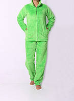 Теплая женская салатовая пижама