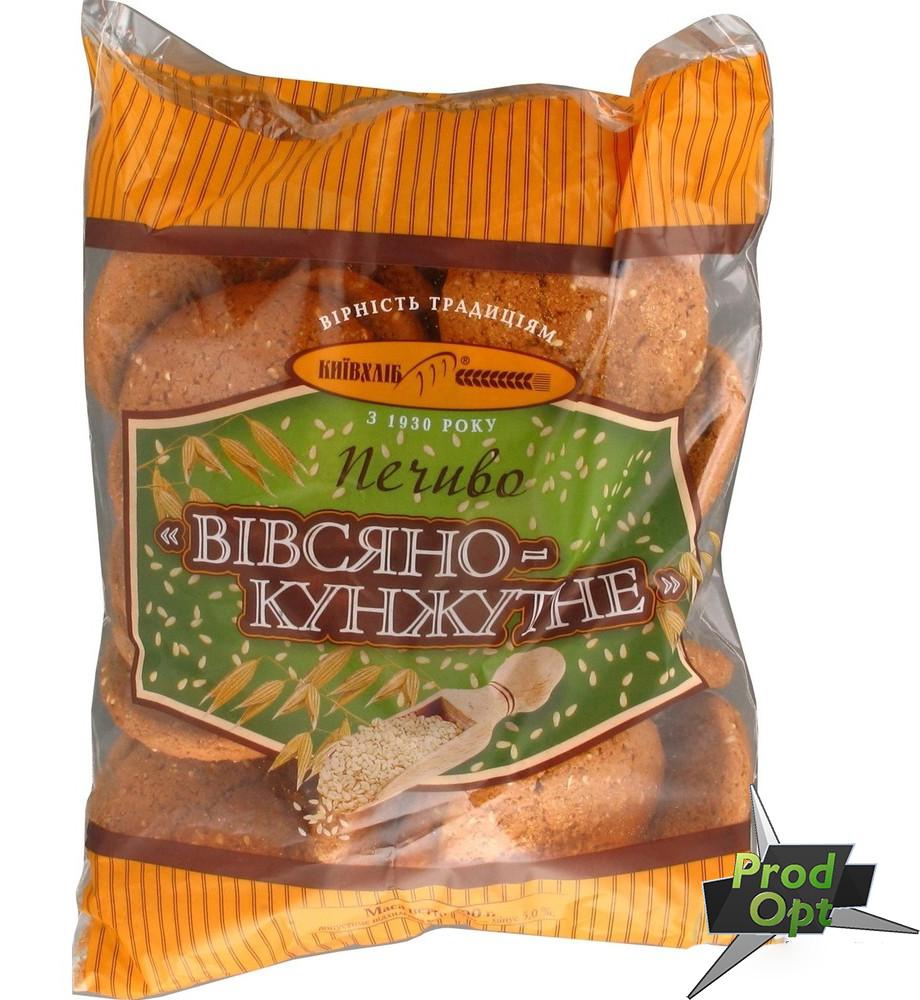 """Печиво фасоване """"Вівсяно-кунжутне"""" Київхліб 360 г"""