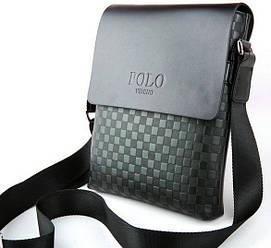 Мужская сумка через плечо Polo черная