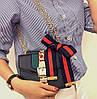 Женская сумка в стиле Gucci | Черная, фото 2