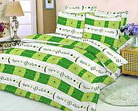Качественное постельное белье, зеленая абстракция, бязь, двуспальное