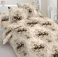 Постельное белье Фланель(байка), Барокко беж - Семейные комплект