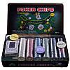 Набір для покеру в металевій коробці 300 шт, фото 5