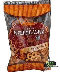 """Печиво фасоване """"Крендельки з кунжутом"""" Київхліб 260 г"""