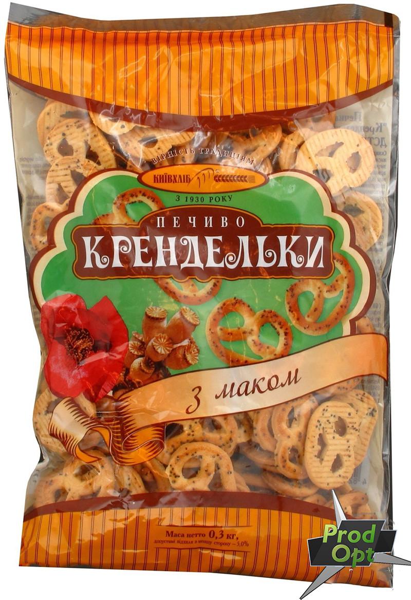 """Печиво фасоване """"Крендельки з маком"""" Київхліб 260 г"""