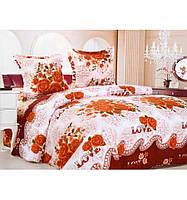 Двуспальный комплект постельного белья евро бязь 2,0 Романтичный