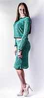 Костюм-платье Травка р.42-46 зеленый