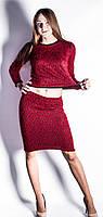 Костюм-платье Травка р.42-46 красный