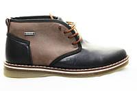 Распродажа  по оптовой цене последней пары  Мужские зимние ботинки  кожанные на меху  ED-Ge