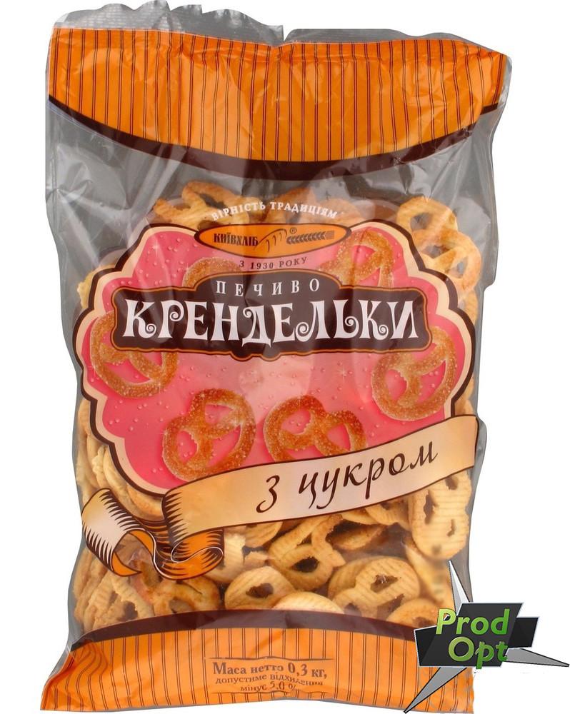 """Печиво фасоване """"Крендельки з цукром"""" Київхліб 260 г"""