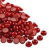 Полубусины жемчужные 8 мм Красные 125 грамм