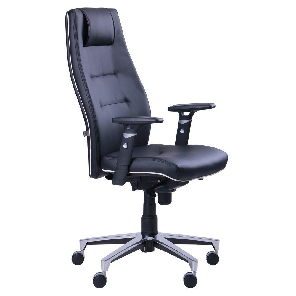 Кресло офисное для руководителя Элеганс высокая спинка, крестовина АЛЮМ, механизм SYNCHRO, TM AMF