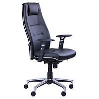 Кресло офисное для руководителя Элеганс высокая спинка, крестовина АЛЮМ, механизм SYNCHRO
