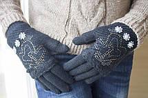 Вязаные перчатки черные, фото 2