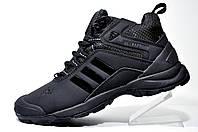 Зимние кроссовки в стиле Adidas Climaproof, All Black (Натуральный мех)