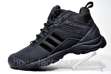 Зимние кроссовки в стиле Adidas Climaproof, All Black (Натуральный мех), фото 2