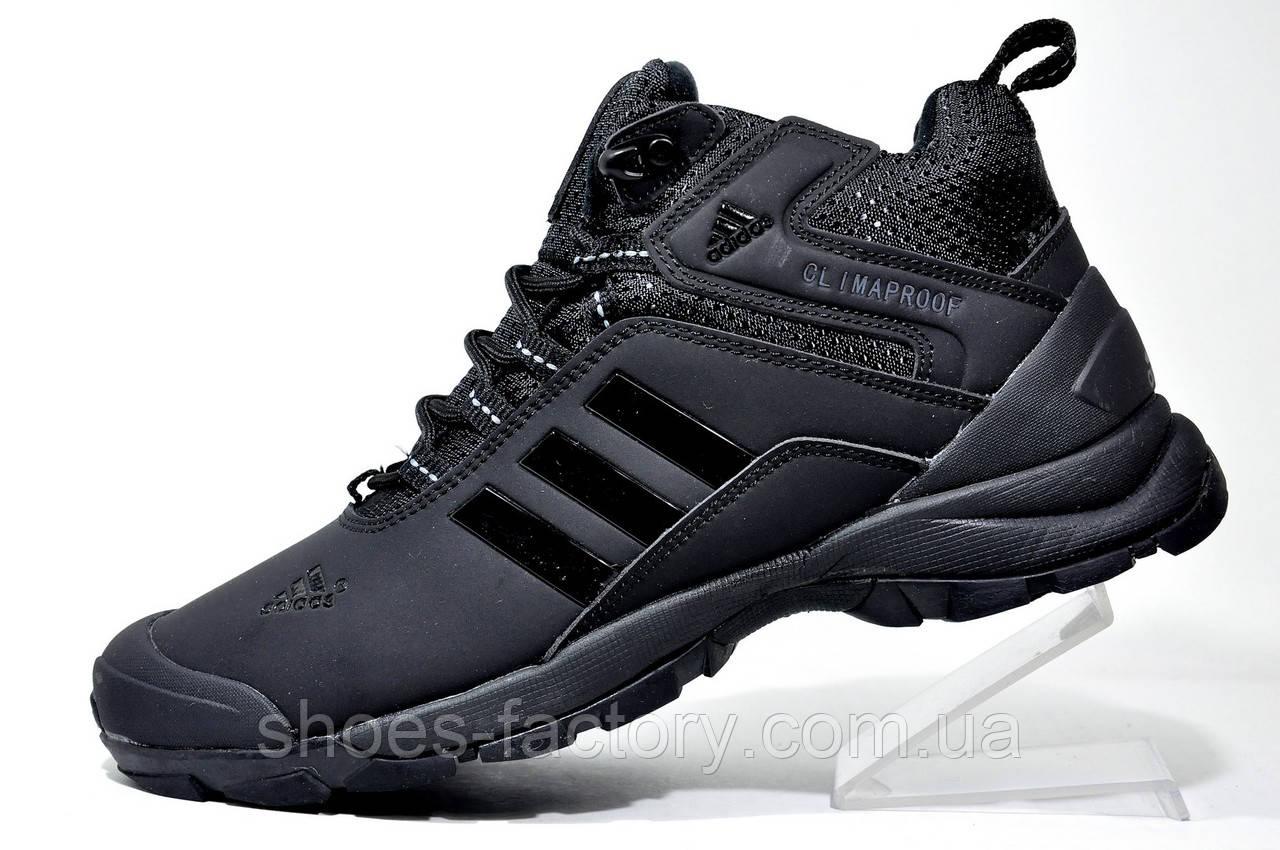 Зимові кросівки в стилі Adidas Climaproof, All Black (Натуральне хутро)