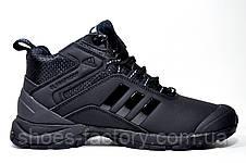 Зимові кросівки в стилі Adidas Climaproof, All Black (Натуральне хутро), фото 3
