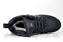 Зимові кросівки в стилі Adidas Climaproof, All Black (Натуральне хутро), фото 2