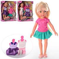 Кукла с нарядом R105  31см, платье 2 шт, блеск, наклейки, 3 вида, в коробке