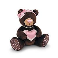 Мягкая игрушка «Orange» (M003/20) медвежонок Milk с сердечком сидячая, 20 см