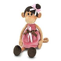 Мягкая игрушка «Orange» (OS105/28) обезьянка Мила в платье с причёской, 45 см