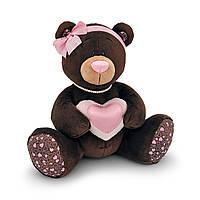 Мягкая игрушка «Orange» (M003/25) медвежонок Milk с сердечком сидячая, 25 см