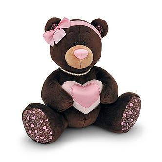 Мягкая игрушка «Orange» (M003/25) медвежонок Milk с сердечком сидячая, 25 см, фото 2